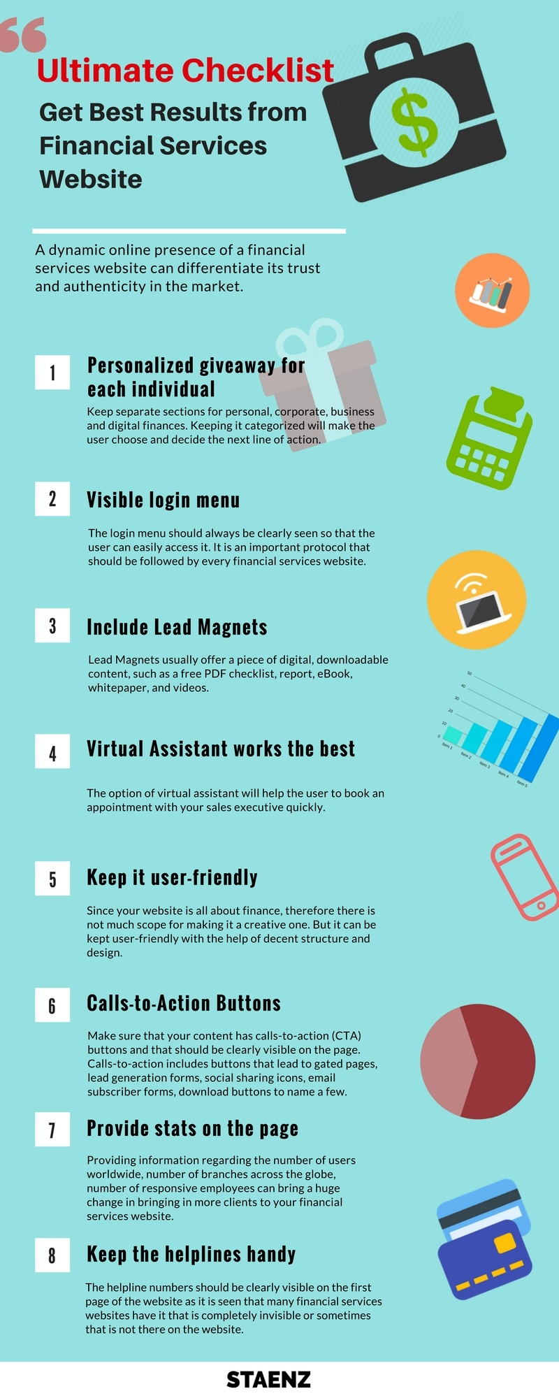 Infographic - Ultimate Checklist for Best Financial Services Website