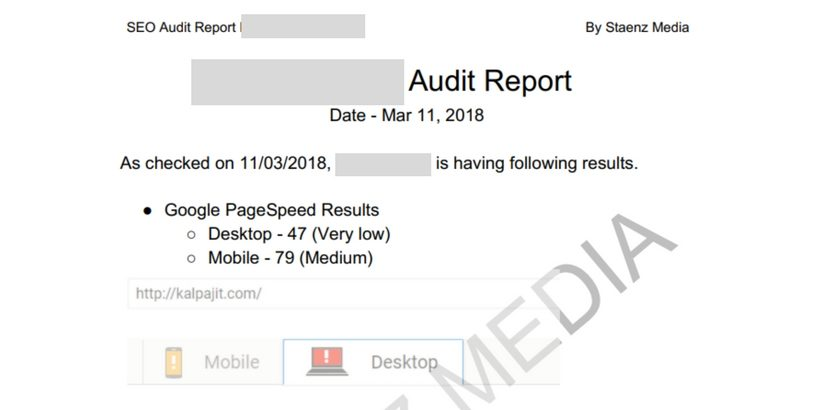 free seo audit report