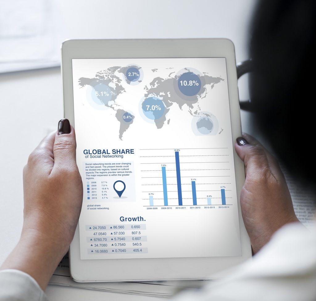statistical data on website