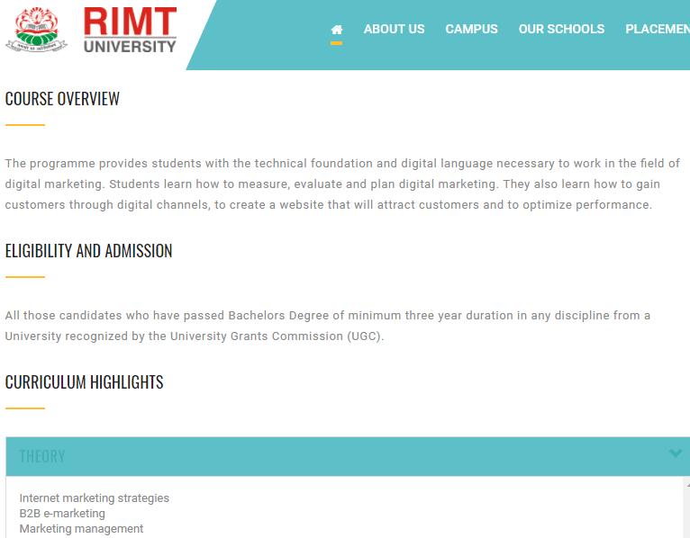 RIMT university