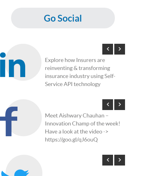 Sneak Peak of Social Media for Financial Services Website
