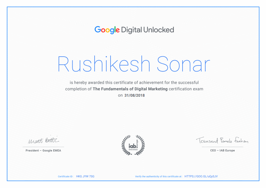 Review of Google Digital Unlocked Certification 2019 with Answers